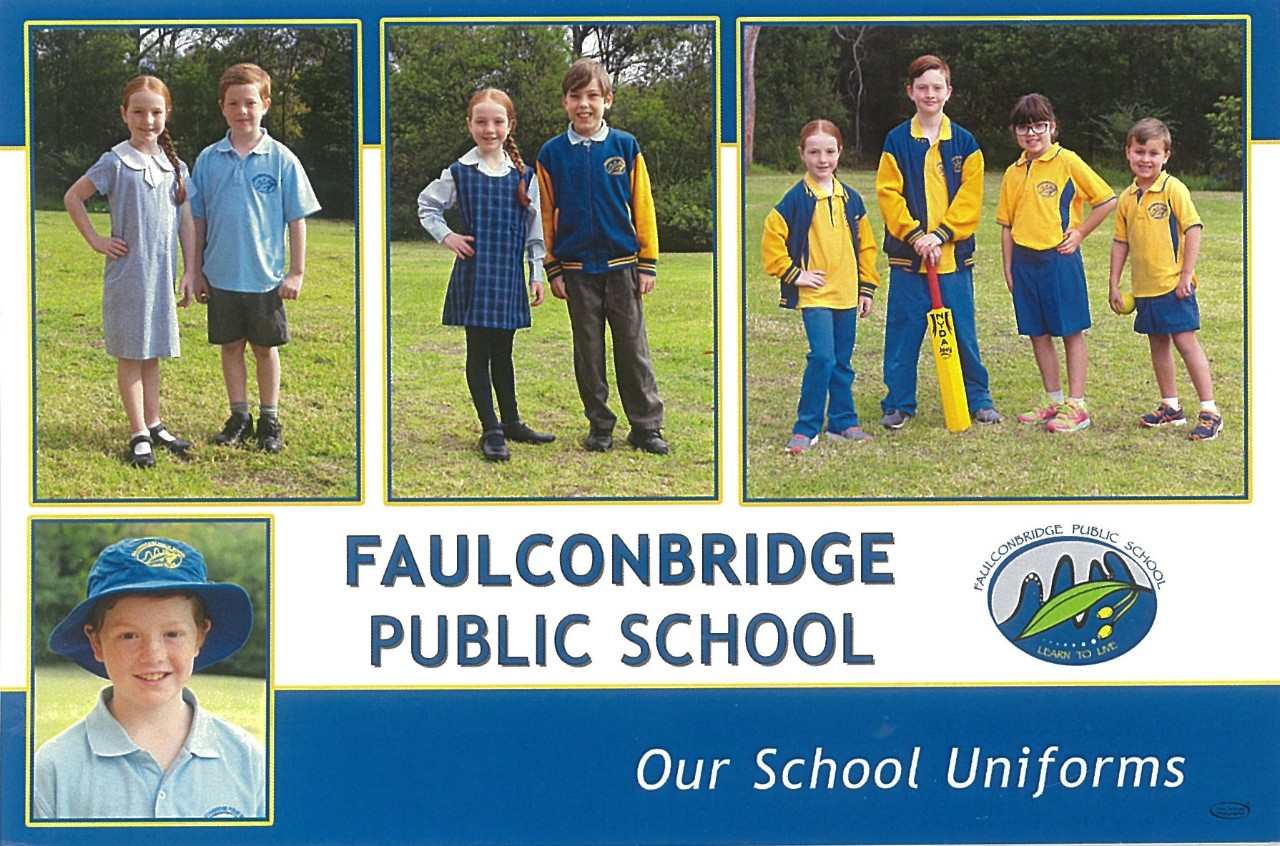 4 photographs with students wearing the different types of uniforms available.